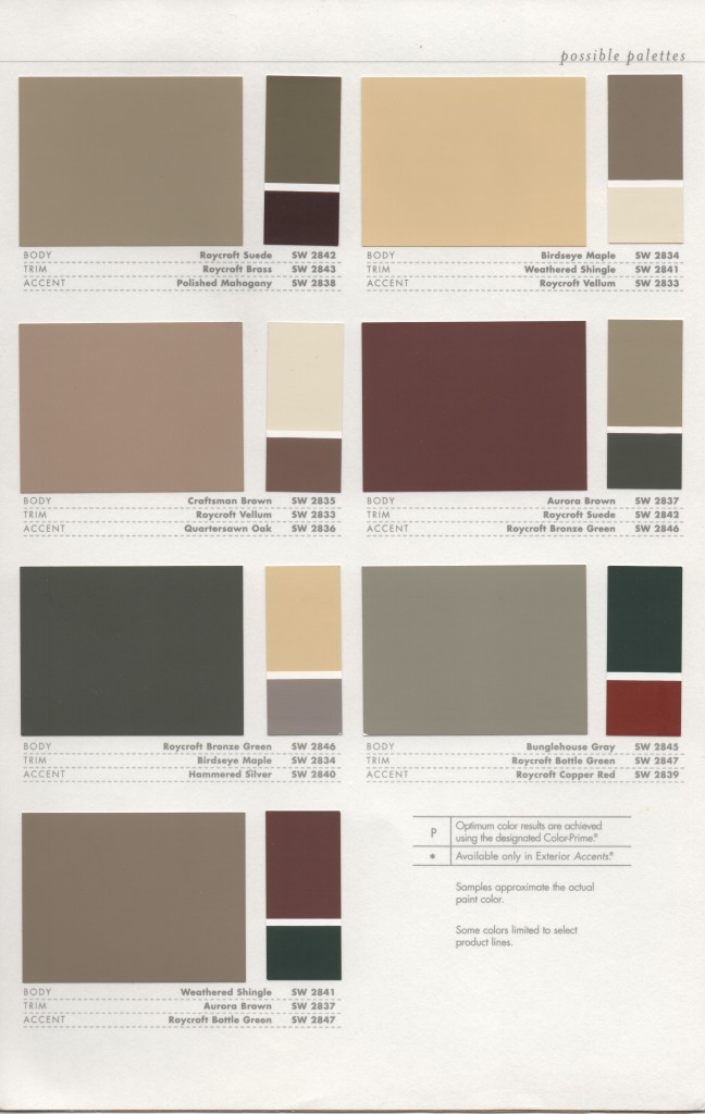 Exterior Colors Color Combos